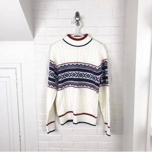 {Vintage} Brookshire Knit Chunky Patterned Sweater